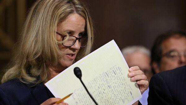 Christine Blasey Ford testifies before the Senate Judiciary Committee in the Dirksen Senate Office Building on Capitol Hill in Washington - Sputnik International