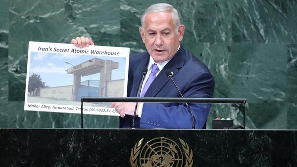Israeli Prime Minister Benjamin Netanyahu addresses the 73rd session of the United Nations General Assembly at U.N. headquarters in New York - Sputnik International
