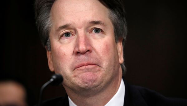 U.S. Supreme Court nominee Brett Kavanaugh testifies before a Senate Judiciary Committee confirmation hearing for Kavanaugh on Capitol Hill in Washington, U.S., September 27, 2018 - Sputnik International