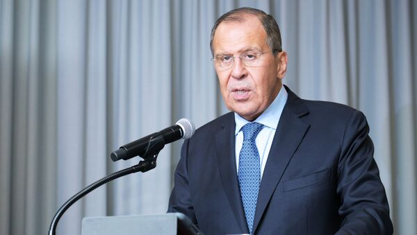 Russian Foreign Minister Sergei Lavrov at the 73rd session of the UN General Assembly at the United Nations headquarters in New York. - Sputnik International