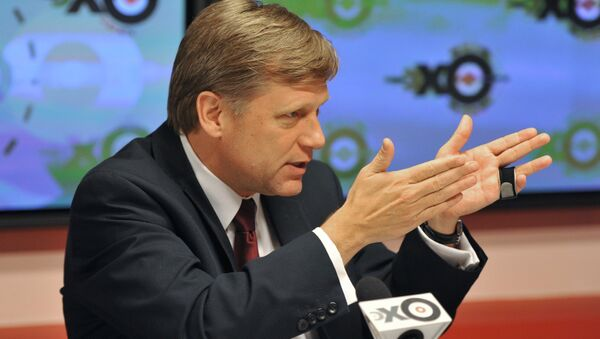 Michael McFaul back during his days as the US's ambassador to Russia. - Sputnik International