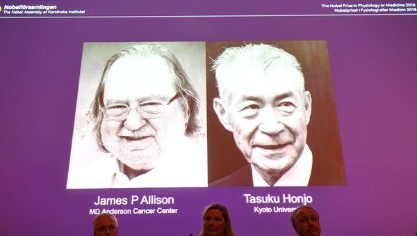 The Nobel Prize laureates for Medicine or Physiology 2018 are James P. Allison, US and Tasuku Honjo, Japan - Sputnik International