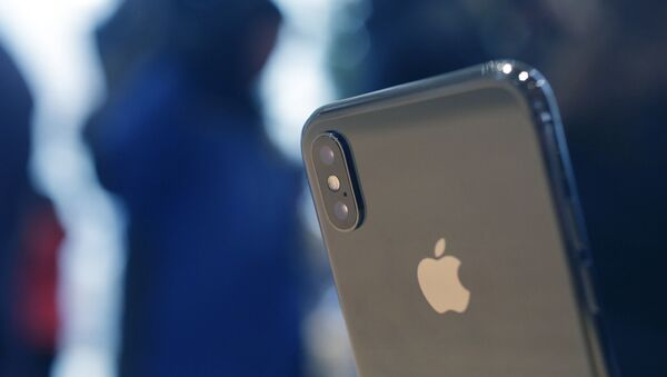 The Apple iPhone X sits on display at the new Apple Michigan Avenue store along the Chicago River Friday, Nov. 3, 2017, in Chicago.  - Sputnik International