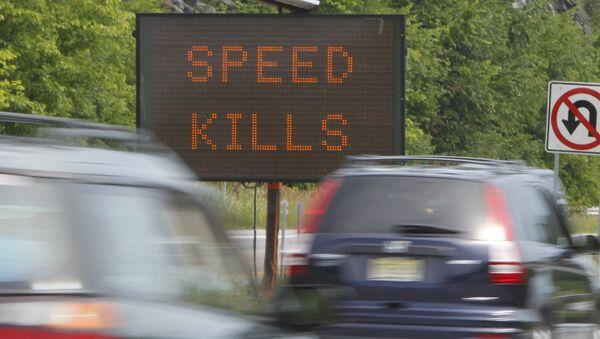 A sign warns motorists on Interstate 89. - Sputnik International