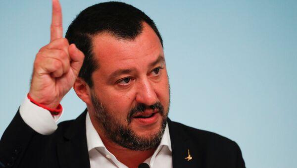 Italy's Deputy Prime Minister Matteo Salvini. File photo - Sputnik International