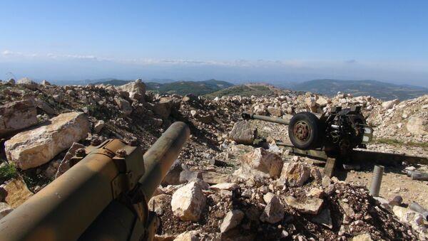 Syrian artillery deployed in northeastern Latakia - Sputnik International