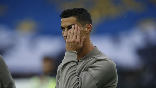 Juventus forward Cristiano Ronaldo warms up prior to the Serie A soccer match between Udinese and Juventus, at the Dacia Arena stadium in Udine, Italy, Saturday, Oct.6, 2018 - Sputnik International
