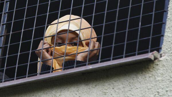 Migrant at Bela-Jezova Refugee Facility in Czech Republic - Sputnik International