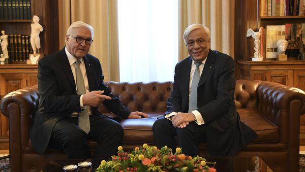Greek President Prokopis Pavlopoulos and German President Frank-Walter Steinmeier - Sputnik International