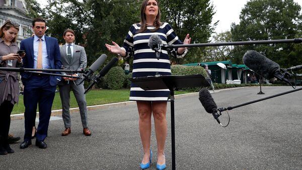 US White House Press Secretary Sarah Huckabee Sanders - Sputnik International