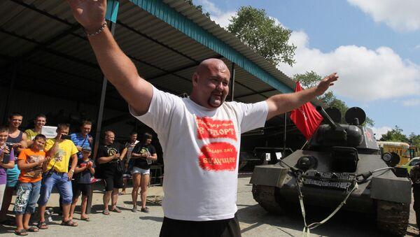 Meister in Powerlifting und Schwerathletik aus der fernöstlichen Region Primorije Iwan Sawkin - Sputnik International