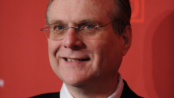 (FILES) In this file photo taken on May 8, 2008 Paul Allen, Microsoft co-founder, arrives at Time Magazine's 100 Most Influential People in the World dinner in New York. - Sputnik International