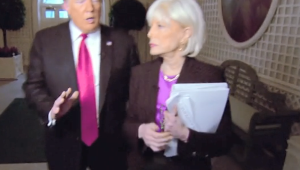 CBS Correspondent Lesley Stahl and US President Donald Trump during an interview for 60 Minutes, October 14, 2018 - Sputnik International