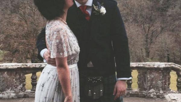 Matthew Hedges with wife - Sputnik International