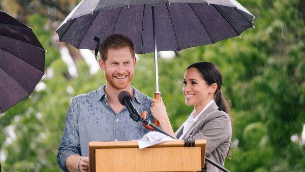 Prince Harry and Meghan Markle in Dubbo. - Sputnik International