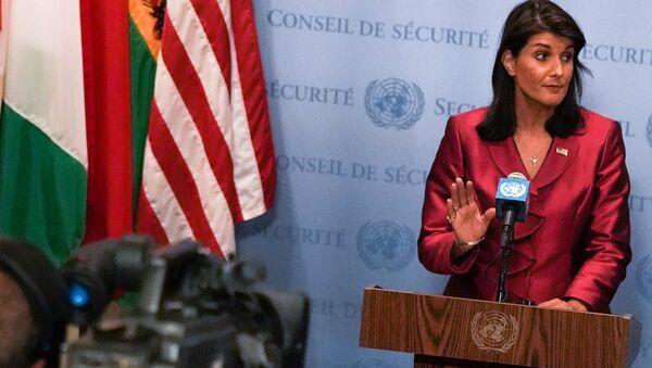 US Ambassador to the United Nations Nikki Haley speaks during a news conference at U.N. headquarters in Manhattan, New York, US, September 20, 2018 - Sputnik International