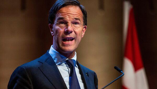 Dutch Prime Minister Mark Rutte speaks during a news conference - Sputnik International