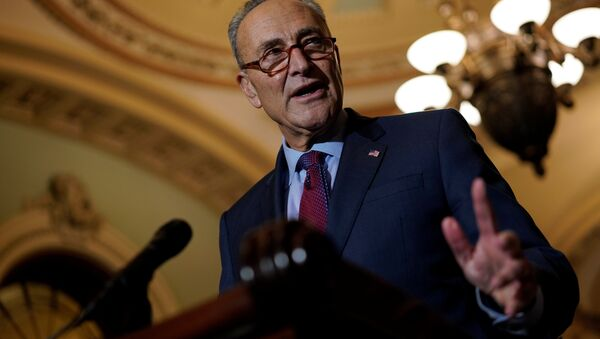 Senate Minority Leader Chuck Schumer speaks with reporters following the weekly policy luncheons on Capitol Hill in Washington, U.S., October 2, 2018 - Sputnik International