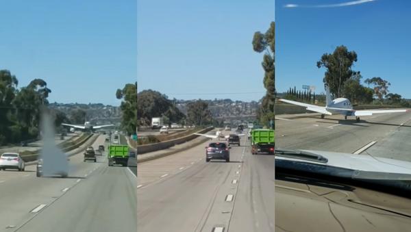 'Oh Sh*t!': California Flight Instructor Makes Successful Emergency Landing - Sputnik International
