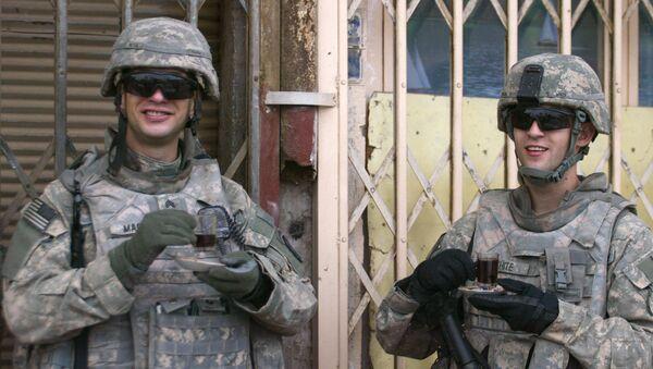 US soldiers enjoy cups of coffee (File) - Sputnik International
