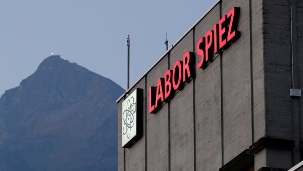 The laboratory's logo is seen at the Swiss Federal Institute for NBC Protection Labor Spiez in Spiez, Switzerland October 19, 2018 - Sputnik International