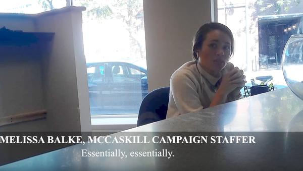 Melissa Balke, a campaign staffer for Missouri Senator Claire McCaskill, in a video filmed by Project Veritas - Sputnik International