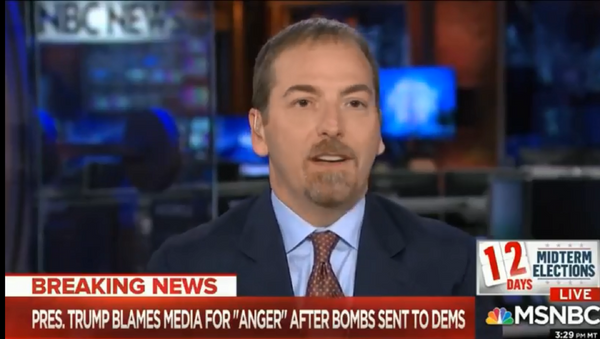 MSNBC host and Political Director Chuck Todd says Russia could be behind pipe bombs mailed to prominent Democrats. - Sputnik International