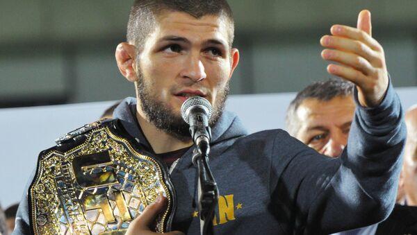 Russian Mixed Martial Arts Fighter Khabib Nurmagomedov - Sputnik International