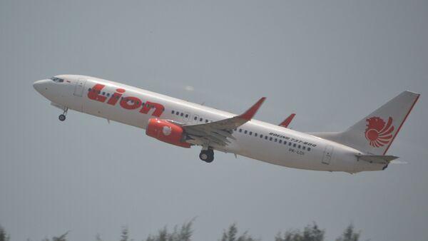 Boeing 737/8 of Lion Air at Singapore Changi-SIN,13/10/14.(Archive) - Sputnik International
