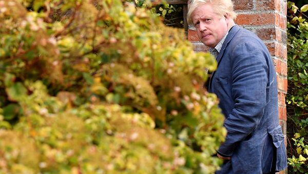 Conservative MP Boris Johnson walks through his garden at his home near Oxford, Britain, October 3, 2018. - Sputnik International