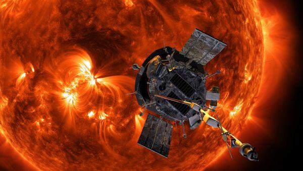 Illustration of Parker Solar Probe approaching the Sun - Sputnik International