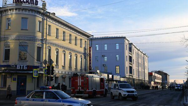 An explosion at FSB building in Arkhangelsk - Sputnik International