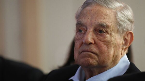 George Soros, Founder and Chairman of the Open Society Foundations listens to the conference after his speech entitled How to save the European Union as he attends the European Council On Foreign Relations Annual Council Meeting in Paris, Tuesday, May 29, 2018 - Sputnik International