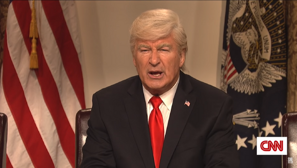 Actor Alec Baldwin plays US President Donald Trump on Saturday Night Live. - Sputnik International