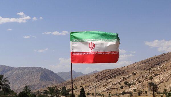 Iranian Flag over Archaeological Site - Bishapur - Sputnik International