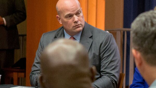 Chief of Staff to the Attorney General Matthew Whitaker attends a roundtable discussion with foreign liaison officers at the Justice Department in Washington, U.S., August 29, 2018. - Sputnik International