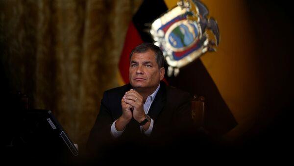 Ecuador's President Rafael Correa gives a a news conference in Quito, Ecuador, February 22, 2017 - Sputnik International