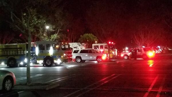 First responders are seen outside Borderline Bar and Grill in Thousand Oaks, California, U.S. November 7, 2018 in this image obtained from social media on November 8, 2018 - Sputnik International