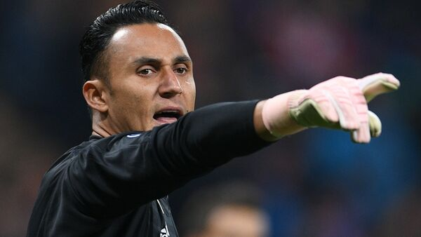 Real's goalkeeper Keylor Navas gestures to his teammates during the Champions League group G soccer match between CSKA Moscow and Real Madrid, in Moscow, Russia, October 2, 2018. - Sputnik International