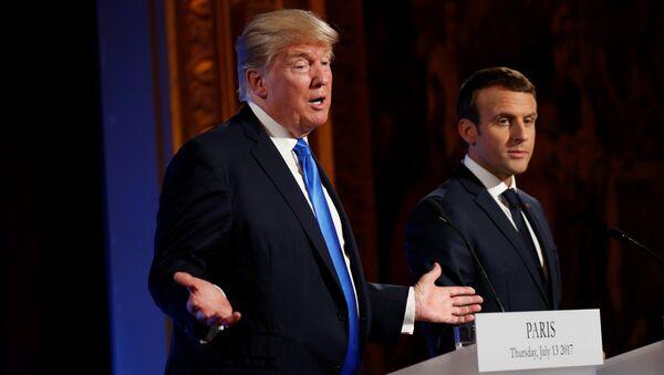 French President Emmanuel Macron and U.S. President Donald Trump - Sputnik International