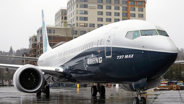 FILE - In this March 7, 2017, file photo, the first of the large Boeing 737 MAX 9 models, Boeing's newest commercial airplane, sits outside its production plant in Renton, Wash - Sputnik International