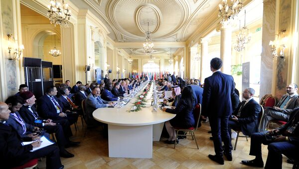 Participants attend the second day of the international conference on Libya in Palermo, Italy, November 13, 2018 - Sputnik International