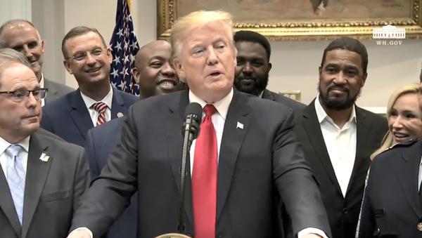US President Donald Trump endorses the First Step Act - Sputnik International