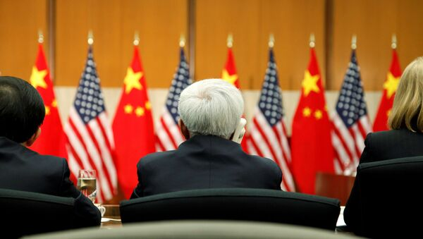 Delegates listen to opening remarks by China's State Councilor Yang and US Deputy Secretary of State Burns at a session of the S&ED in Washington - Sputnik International
