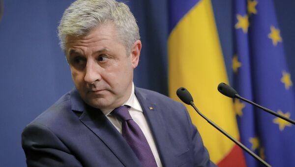 Florin Iordache announces his resignation as Romania's justice minister during a media briefing in Bucharest, Romania, Thursday, Feb. 9, 2017 - Sputnik International