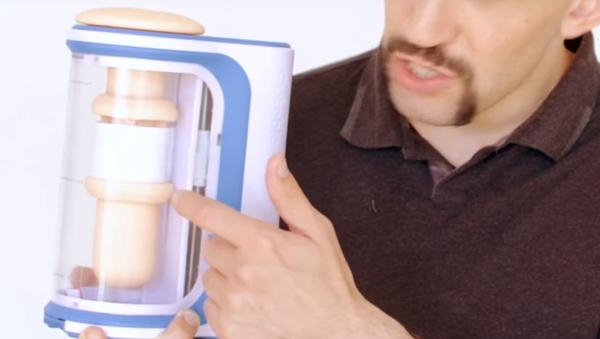 Autoblow AI inventor Brian Sloan displays his invention, the world's first oral sex robot - Sputnik International