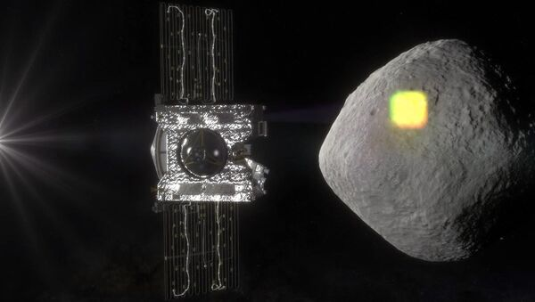 NASA artist rendering shows the mapping of the near-Earth asteroid Bennu by the OSIRIS-REx spacecraft - Sputnik International
