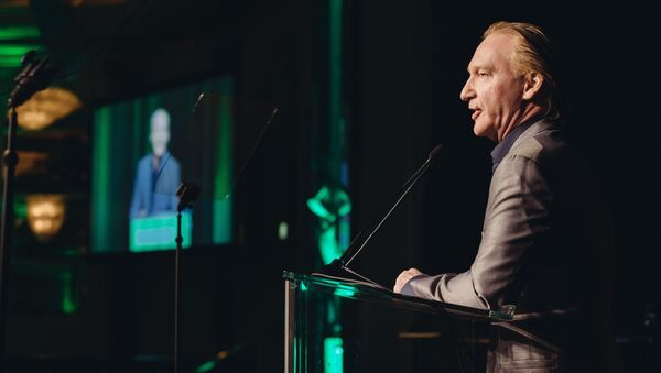 Bill Maher, winner of the First Amendment Award, speaks to the crowd at the 26th Annual Literary Awards Festival at the Beverly Wilshire Hotel on Wednesday, September 28, 2016, in Beverly Hills, Calif - Sputnik International