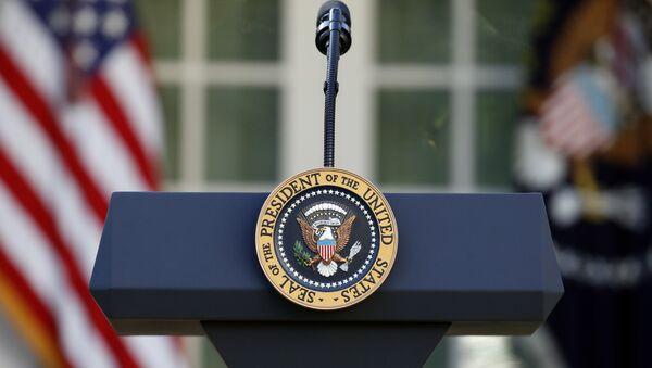 The US presidential podium  - Sputnik International