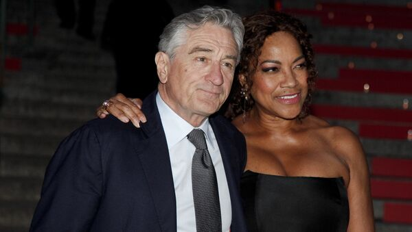Robert De Niro, left, and Grace Hightower, right, attend the annual Vanity Fair Tribeca Film Festival kick-off party at the State Supreme Courthouse on Tuesday, April 14, 2015, in New York - Sputnik International